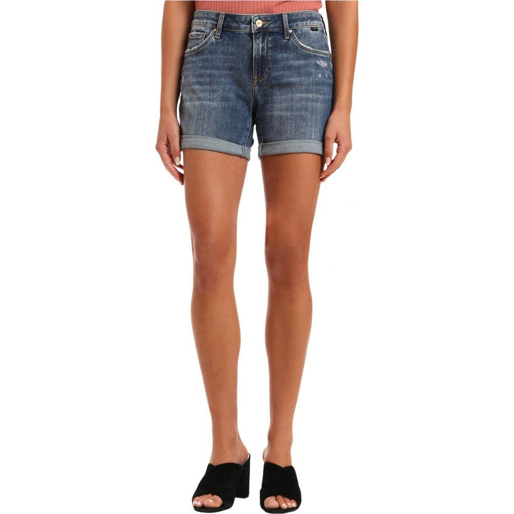 マーヴィ ジーンズ Mavi Jeans レディース ショートパンツ ボトムス・パンツ【Pixie Mid-Rise Boyfriend Shorts in Mid Ripped Vintage】Mid Ripped Vintage