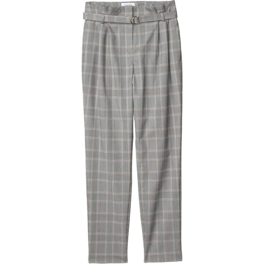 カルバンクライン Calvin Klein レディース ボトムス・パンツ 【Plaid Belted Pants】Ochre Multi