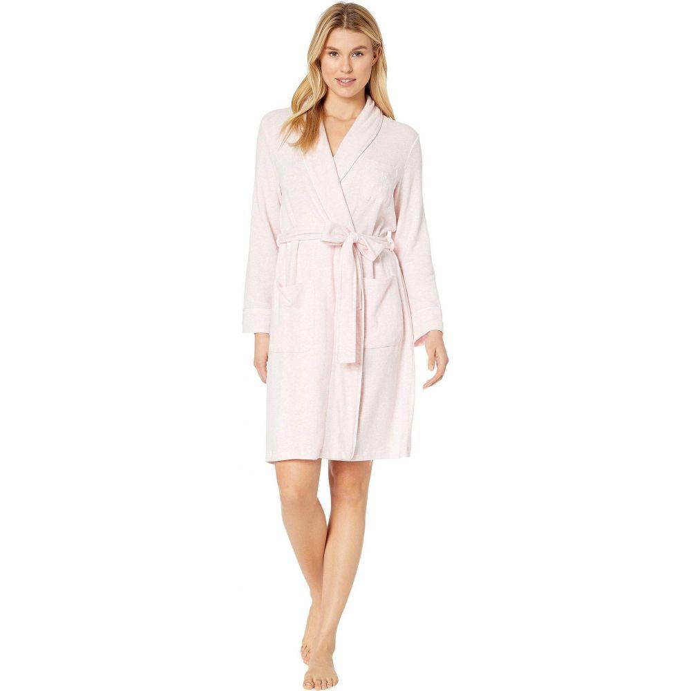 ラルフ ローレン LAUREN Ralph Lauren レディース ガウン・バスローブ ショート丈 インナー・下着【Brushed Knit Short Shawl Collar Robe】Pink