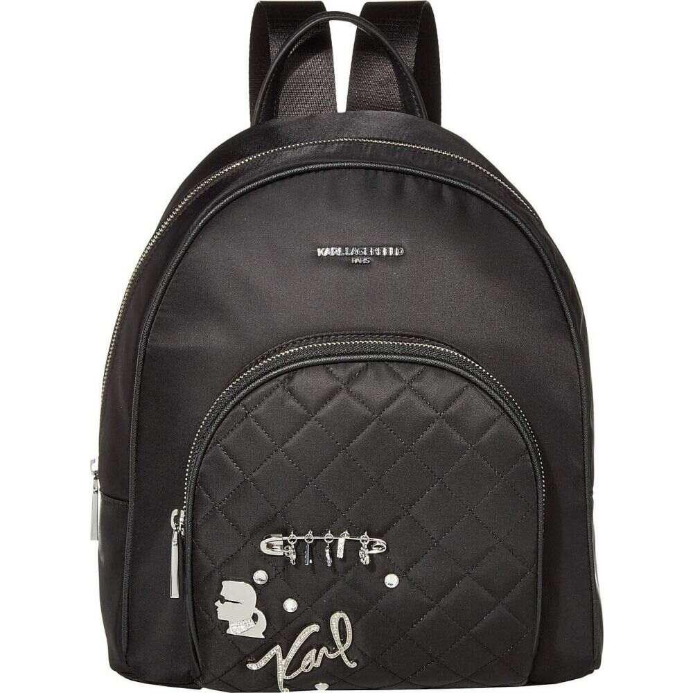 カール ラガーフェルド Karl Lagerfeld Paris レディース バックパック・リュック バッグ【Cara Backpack】Black/Silver