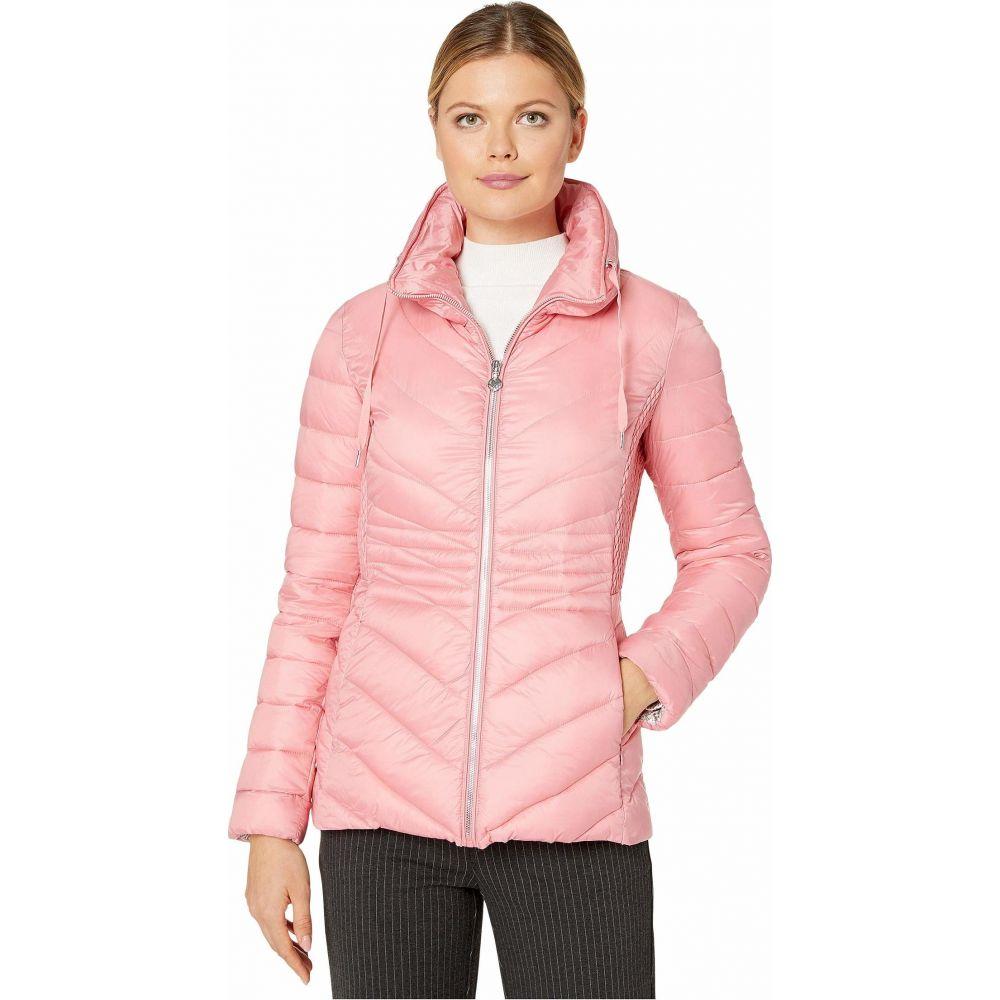 ベルナルド ファッションズ Bernardo Fashions レディース ダウン・中綿ジャケット アウター【EcoPlume Packable Chevron Puffer Jacket】Brandied Apricot Pink