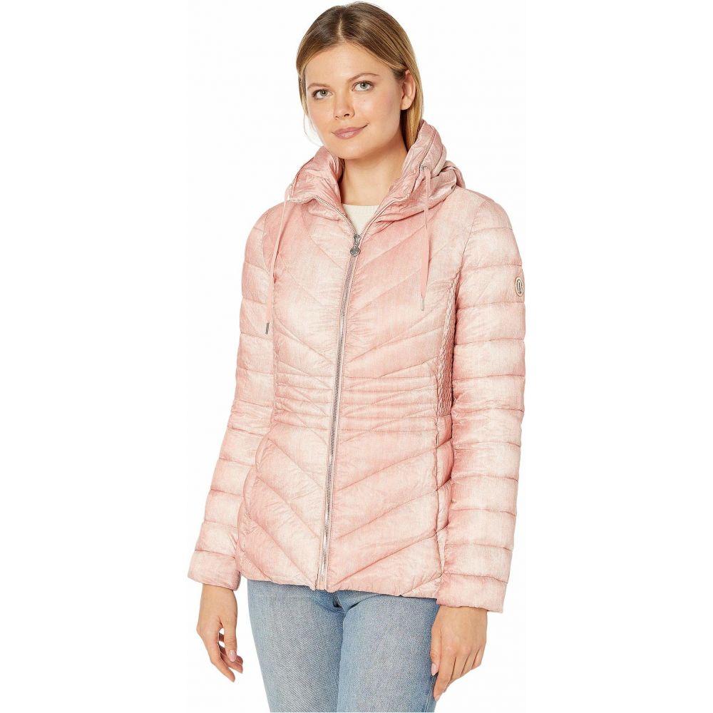 ベルナルド ファッションズ Bernardo Fashions レディース ダウン・中綿ジャケット アウター【EcoPlume Printed Packable Puffer Jacket】Pink Denim