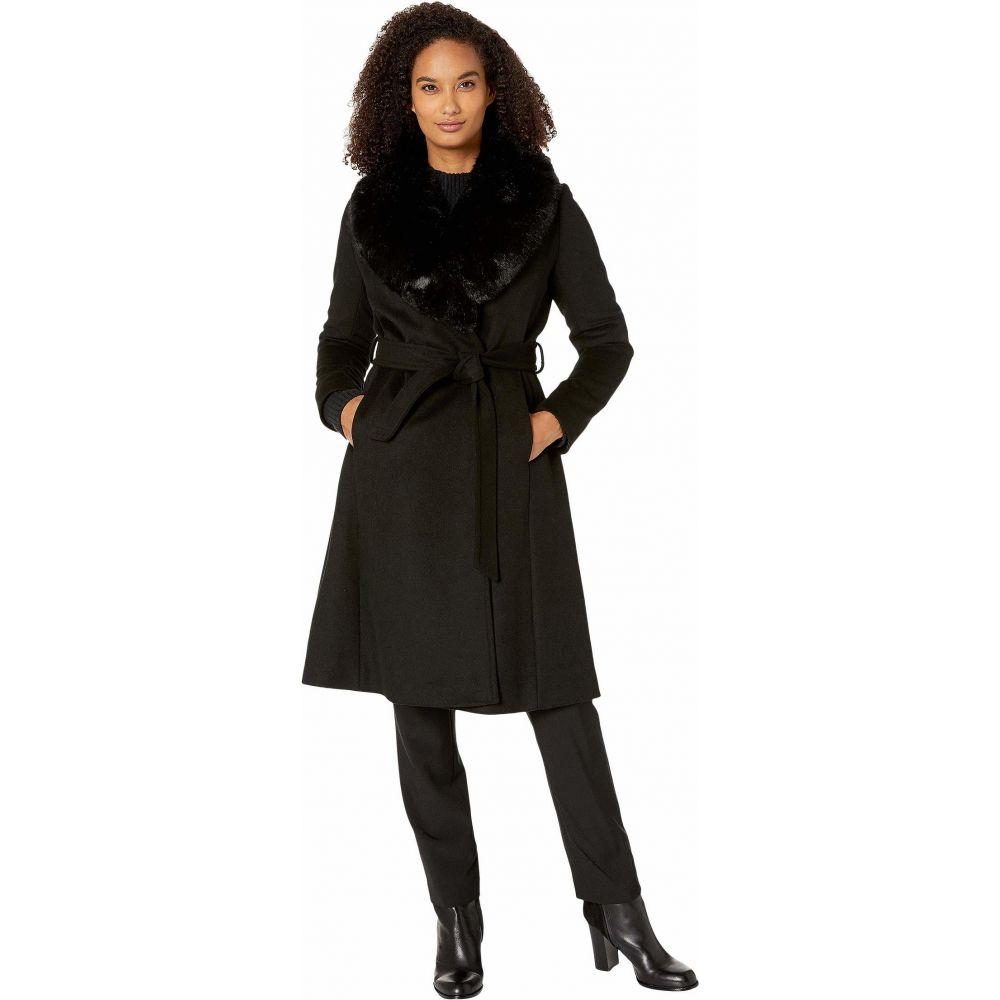 ラルフ ローレン LAUREN Ralph Lauren レディース コート アウター【Wool Wrap with Faux Fur】Black