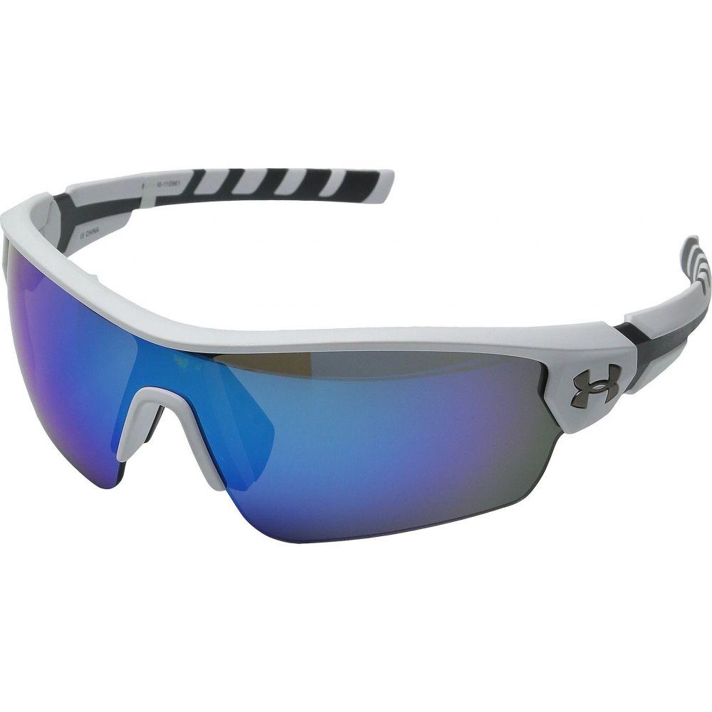 アンダーアーマー Under Armour メンズ メガネ・サングラス 【UA Rival】Satin White/Charcoal Gray Frame/Gray/Blue Multiflection Lens