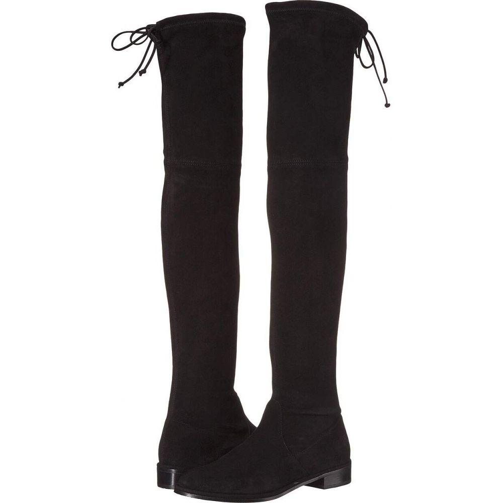 スチュアート ワイツマン Stuart Weitzman レディース ブーツ ロングブーツ ニーハイブーツ シューズ・靴【Lowland Over the Knee Boot】Black Suede Stretch