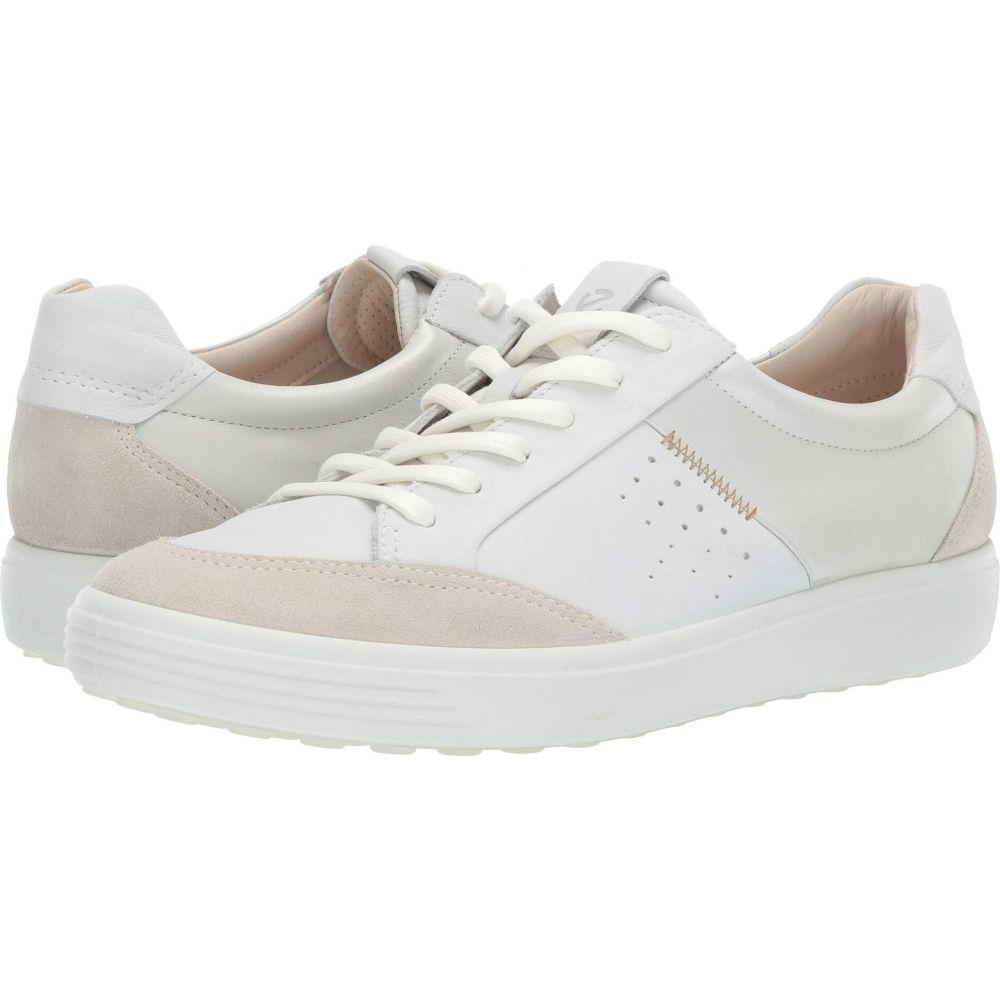 エコー ECCO レディース スニーカー シューズ・靴【Soft 7 Leisure Sneaker】Shadow White/White/White Suede/Cow Leather/Cow Leather
