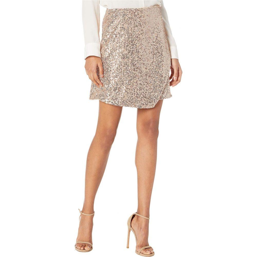 モニーク ルイリエ ML Monique Lhuillier レディース スカート ラップスカート【Faux Wrap Sequined Skirt】Rose Gold