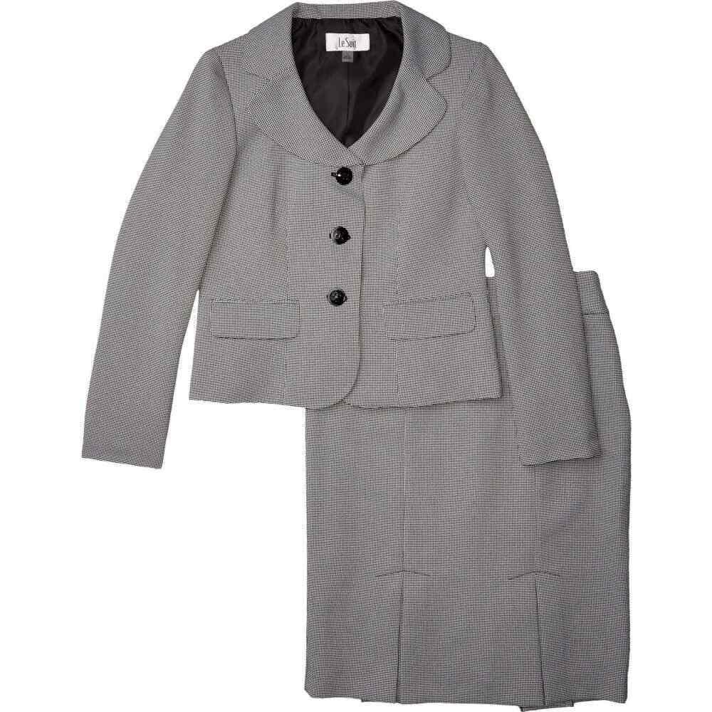 ル スーツ Le Suit レディース スーツ・ジャケット アウター【Jacket/Skirt Suit Set】White/Black