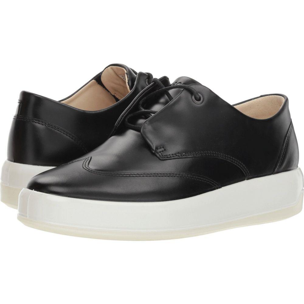 エコー ECCO レディース スニーカー ウイングチップ シューズ・靴【Soft 9 Wing Tip】Black Calf Leather