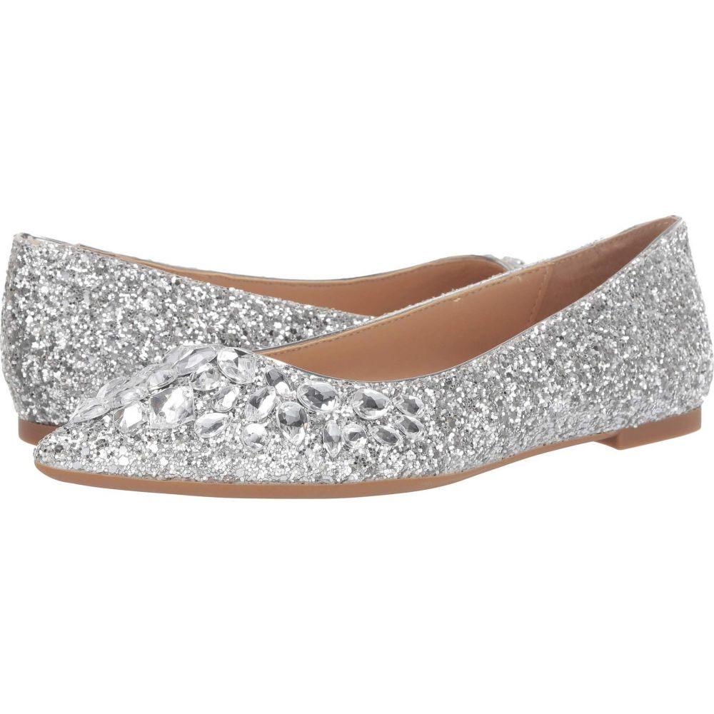 バッジェリー ミシュカ Jewel Badgley Mischka レディース スリッポン・フラット シューズ・靴【Ulanni】Silver