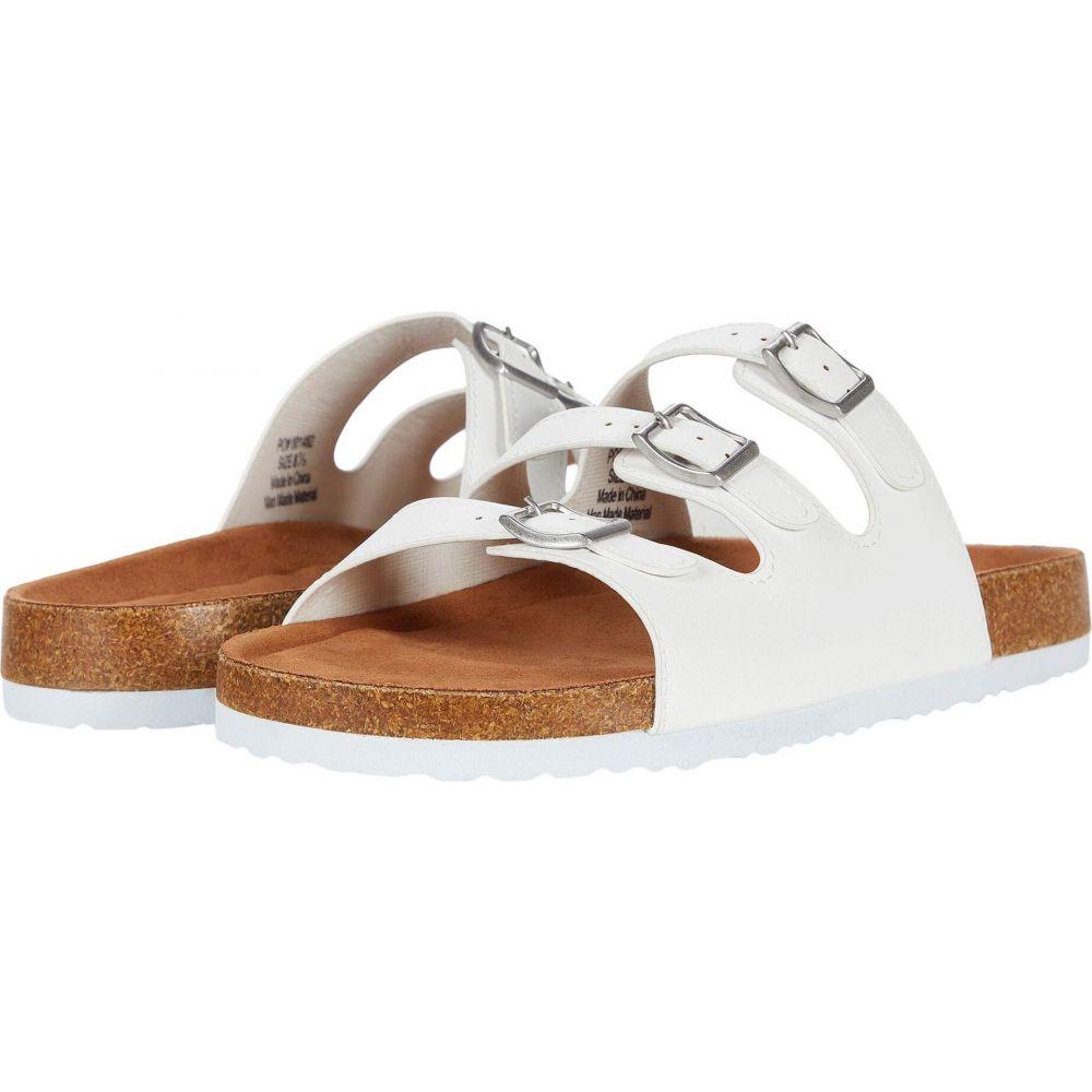 ジュルネ コレクション Journee Collection レディース サンダル・ミュール シューズ・靴【Desta Slide】White