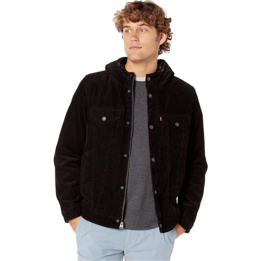 リーバイス Levi's メンズ ジャケット アウター【Corduroy Two-Pocket Hoodie with Sherpa】Black