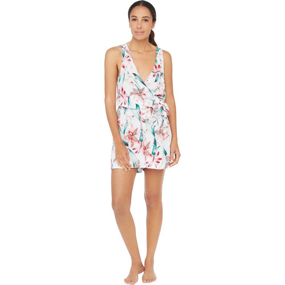 ラブランカ La Blanca レディース ビーチウェア オールインワン 水着・ビーチウェア【Flyaway Orchid Surplice Romper Dress Swimsuit Cover-Up】White