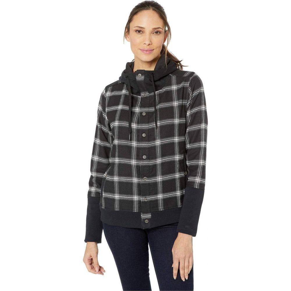 マーモット Marmot レディース ジャケット フランネルシャツ アウター【Stowe Heavyweight Flannel Long Sleeve Shirt】Black