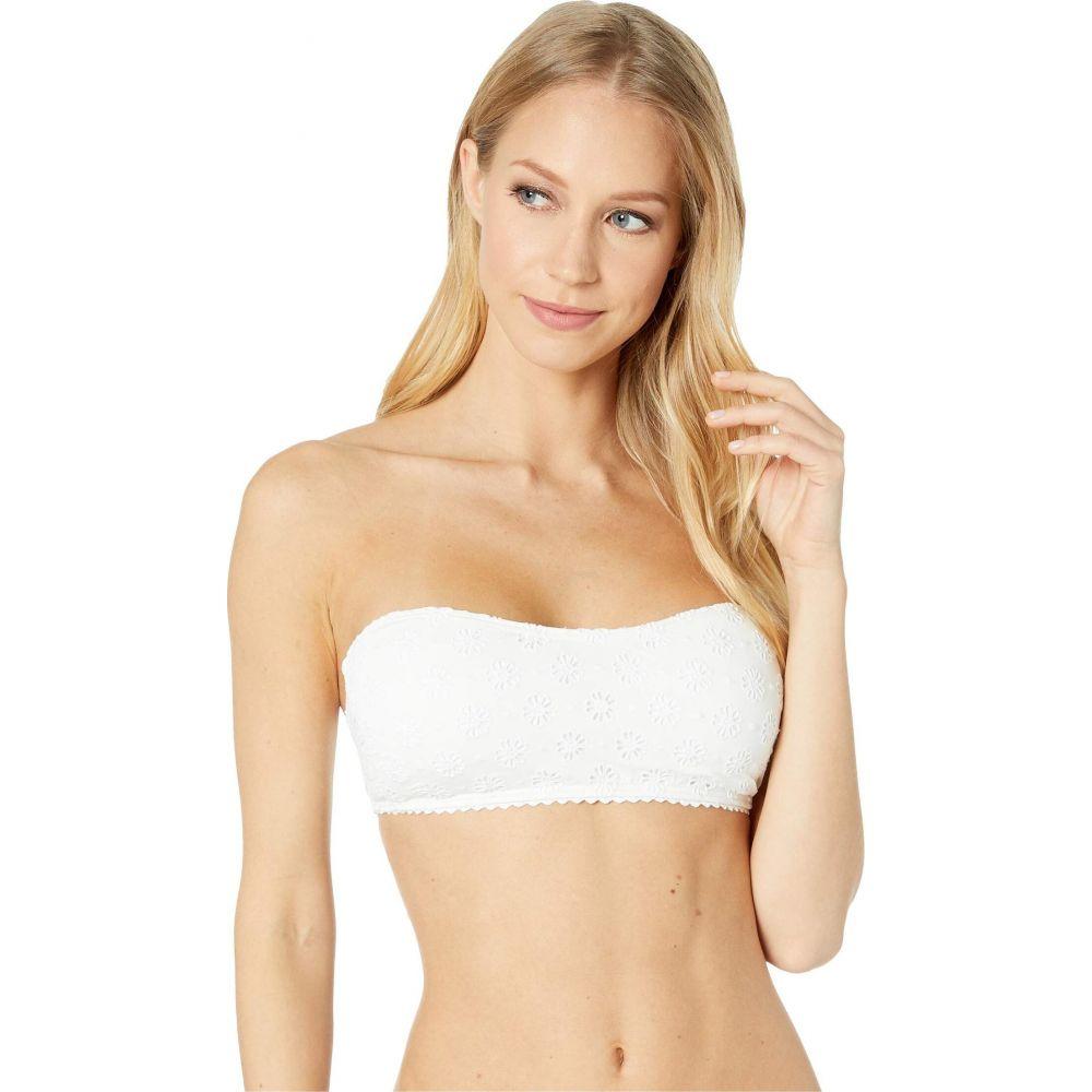 ケイト スペード Kate Spade New York レディース トップのみ 水着・ビーチウェア【Eyelet Bandeau Bikini Top w/ Removable Soft Cups】White