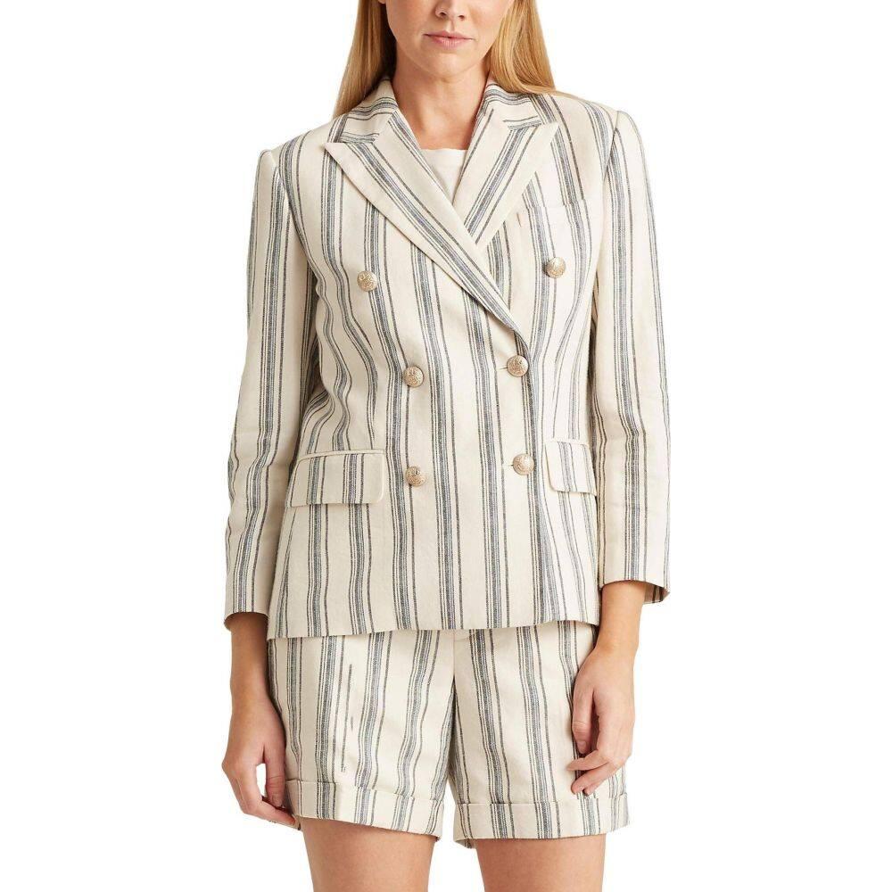 ラルフ ローレン LAUREN Ralph Lauren レディース スーツ・ジャケット アウター【Striped Linen Twill Blazer】Cream Multi