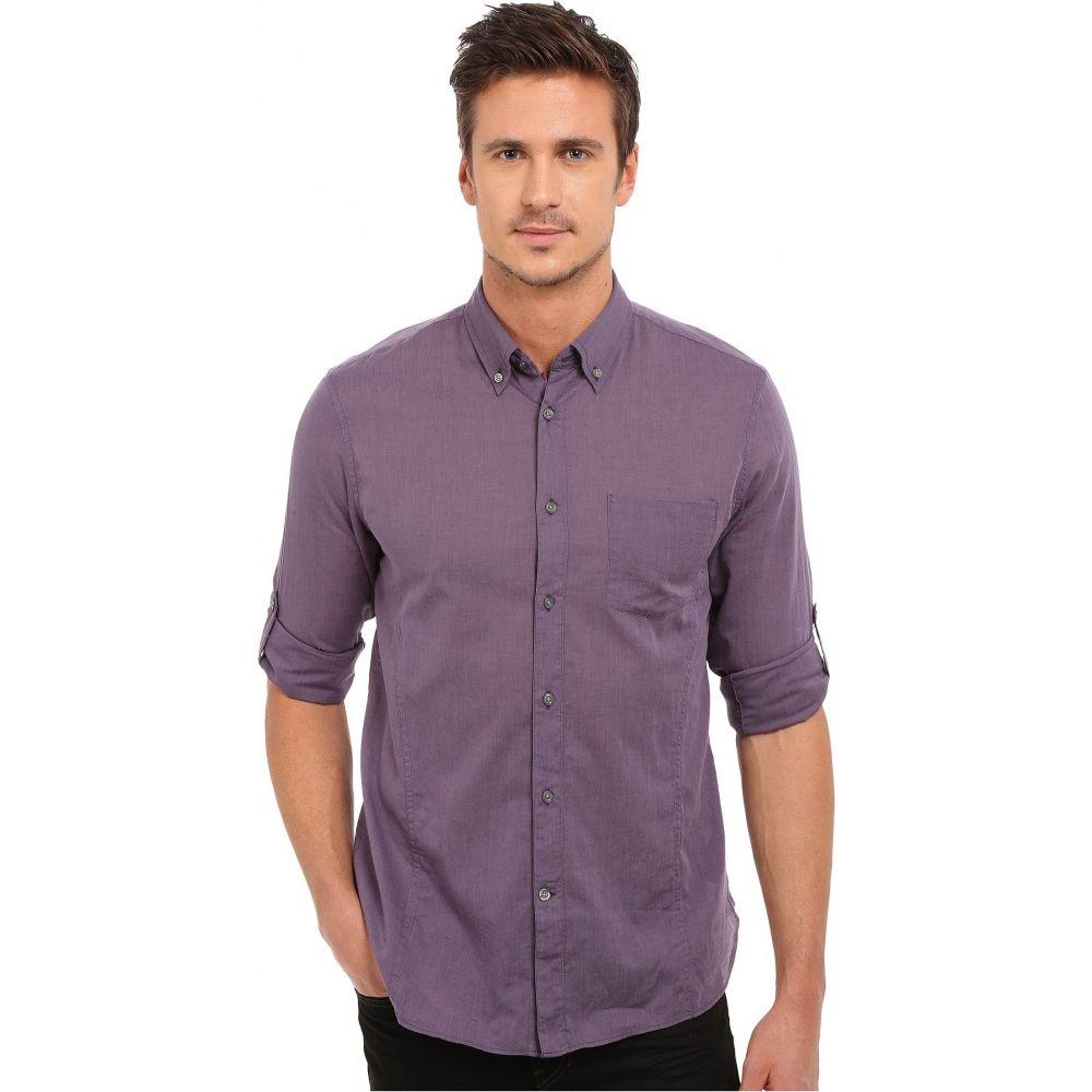 ジョン バルベイトス John Varvatos Star U.S.A. メンズ シャツ トップス【Roll Up Sleeve Shirt w/ Button-Down Collar Single Pocket】Mulberry