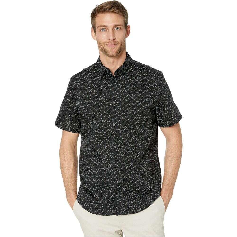 カルバンクライン Calvin Klein メンズ 半袖シャツ トップス【The Stretch Cotton Short Sleeve Woven Shirt】Black