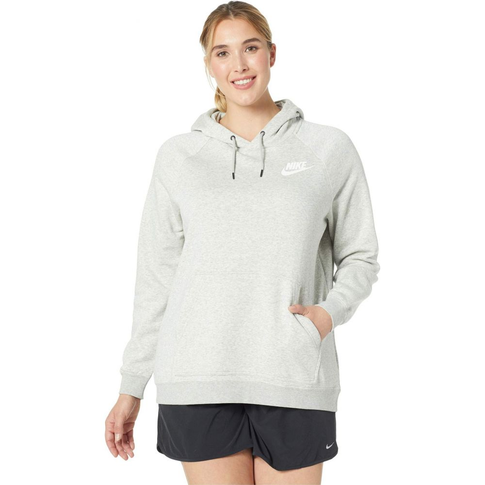 ナイキ Nike レディース パーカー 大きいサイズ トップス【Plus Size Rally Extended Hoodie】Grey Heather/Pale Grey/White