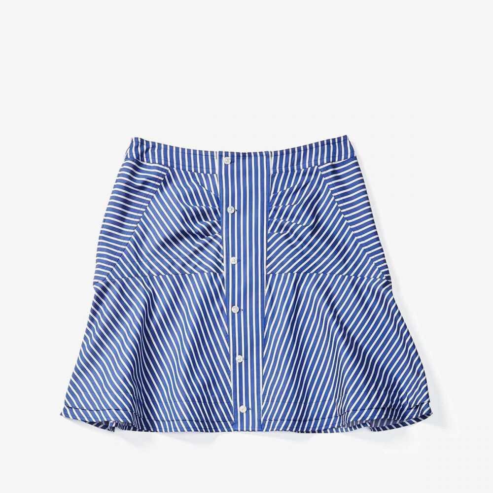 デレク ラム Derek Lam 10 Crosby レディース スカート 【Flared Skirt w/ Ruching】Blue