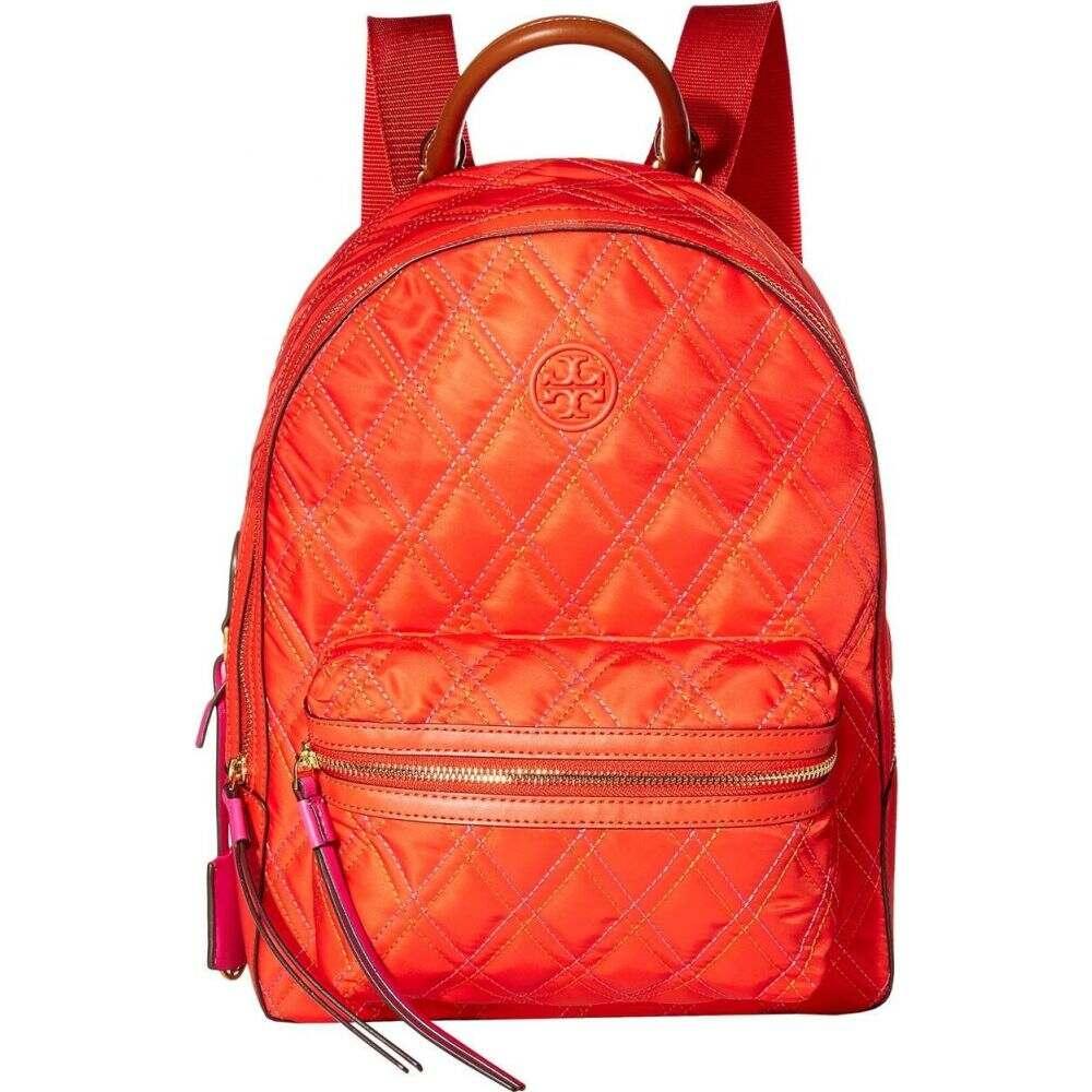 トリー バーチ Tory Burch レディース バックパック・リュック バッグ【Perry Nylon Mixed Stitch Zip Backpack】Bright Samba