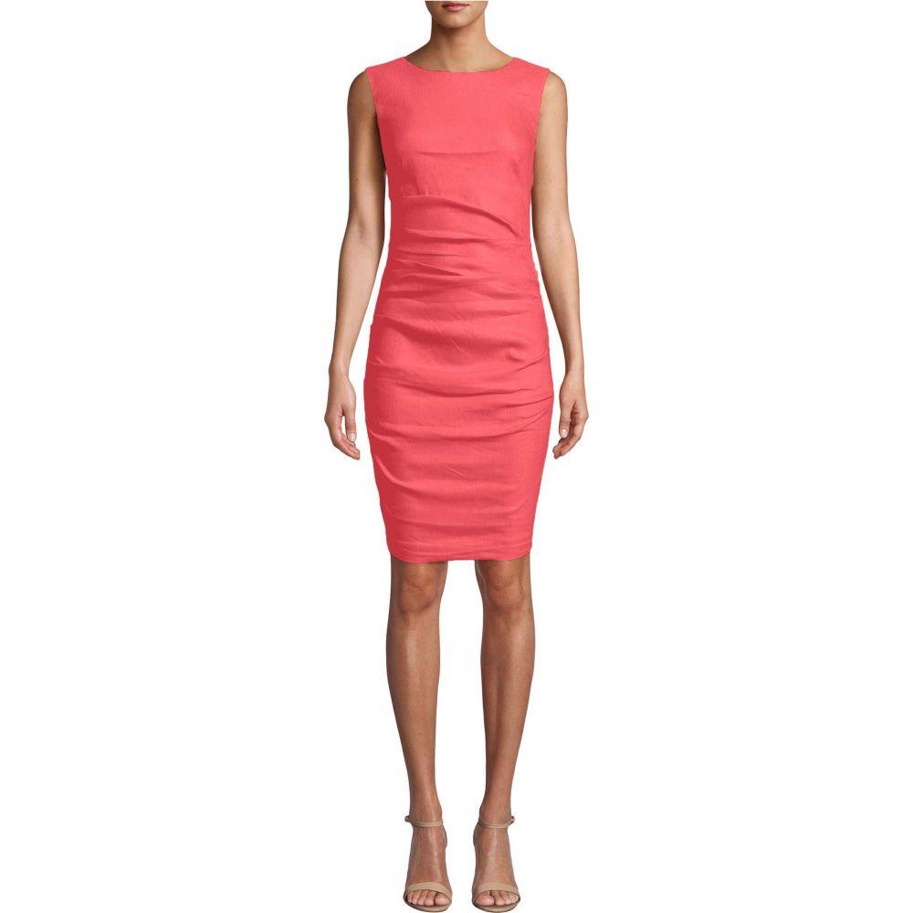 ニコルミラー Nicole Miller レディース ワンピース ワンピース・ドレス【Lauren Stretch Linen Dress】Mediterranean Coral