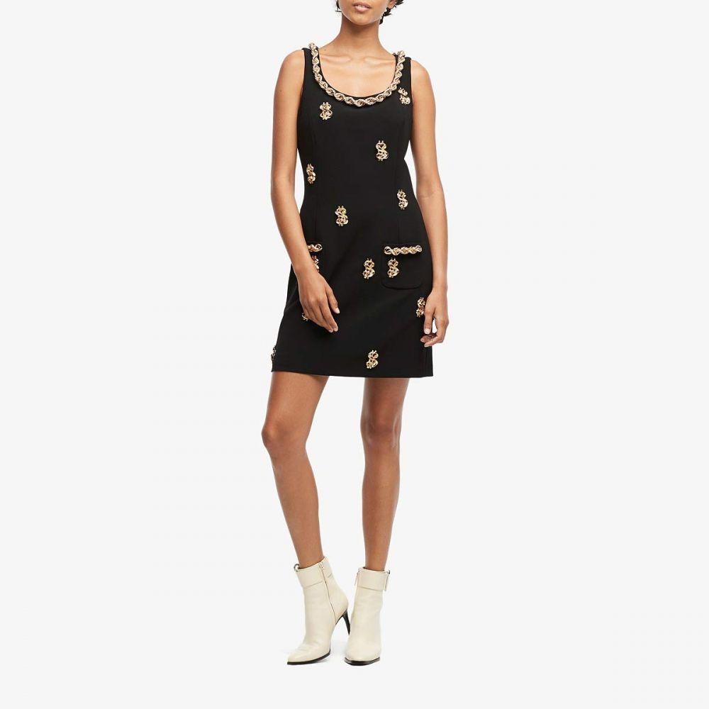 モスキーノ Moschino レディース ワンピース ワンピース・ドレス【Dollar Sign Dress】Black