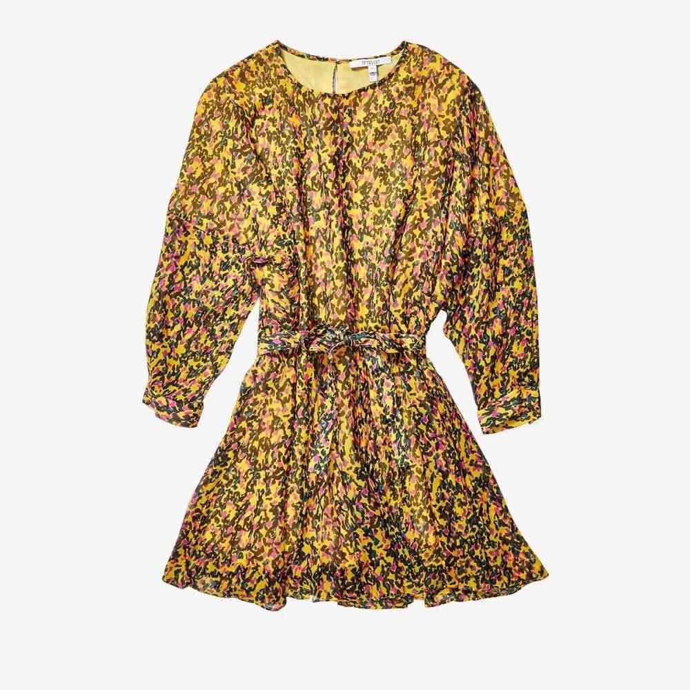 デレク ラム Derek Lam 10 Crosby レディース ワンピース ワンピース・ドレス【Long Sleeve Godet Skirt Dress】Freesia