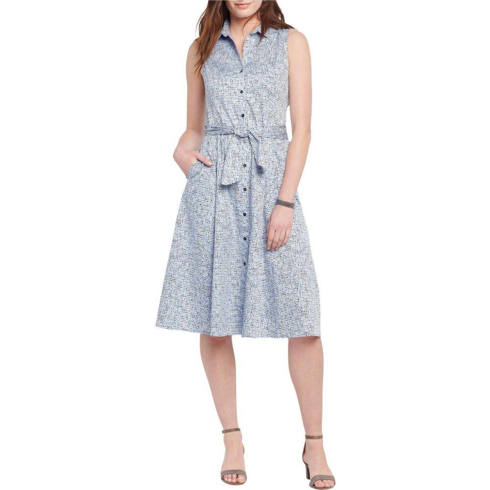 ニックゾー NIC+ZOE レディース ワンピース シャツワンピース ワンピース・ドレス【Petite Naples Shirtdress】Blue Multi