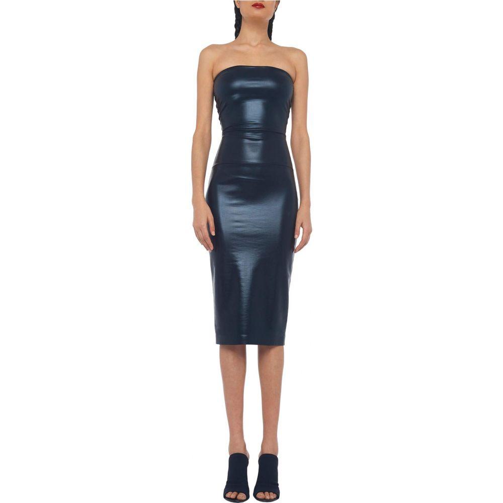 ノーマ カマリ KAMALIKULTURE by Norma Kamali レディース ワンピース ワンピース・ドレス【Strapless Dress To Knee】Black Foil