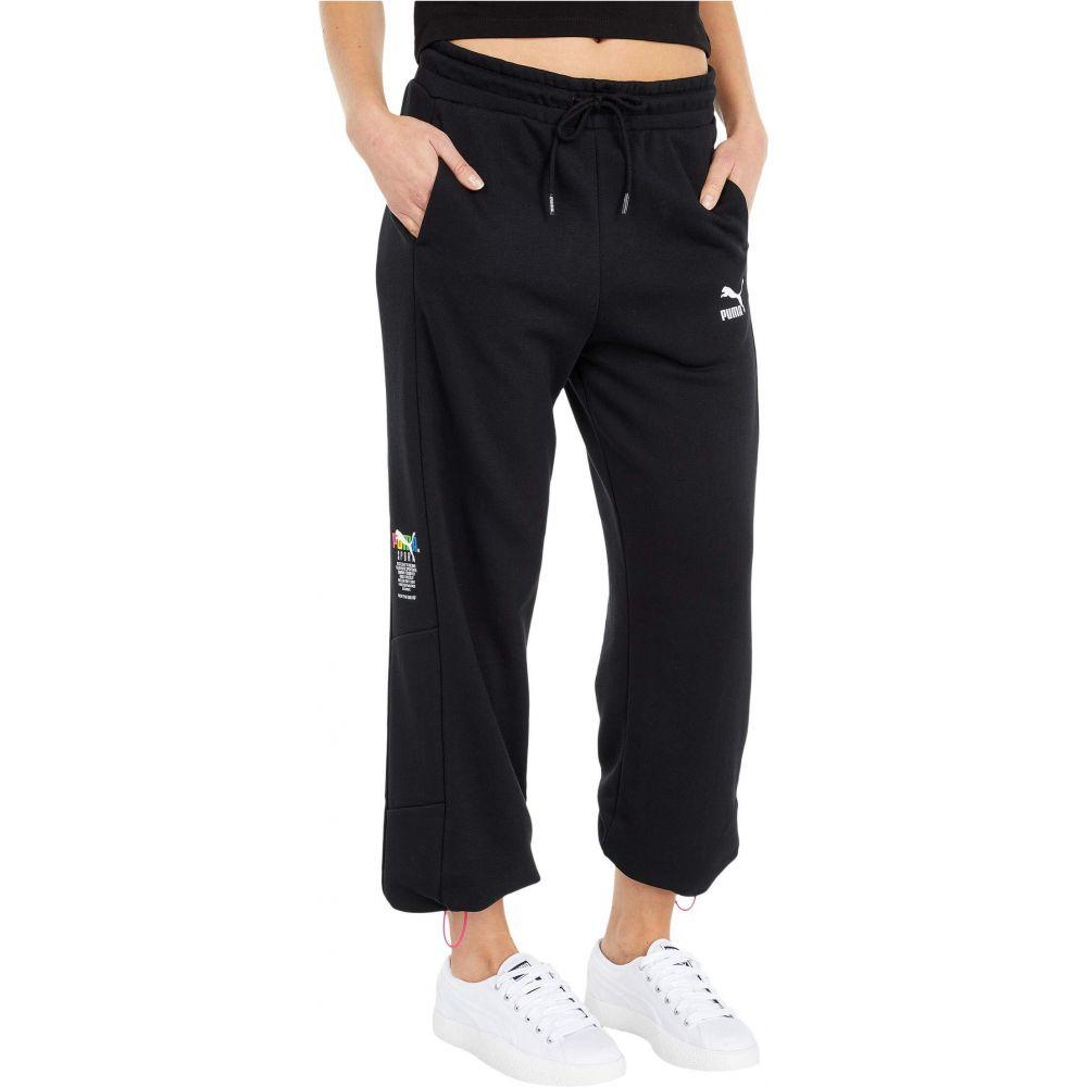 プーマ PUMA レディース スウェット・ジャージ ボトムス・パンツ【Tailored For Sport Cuffed Sweatpants】PUMA Black
