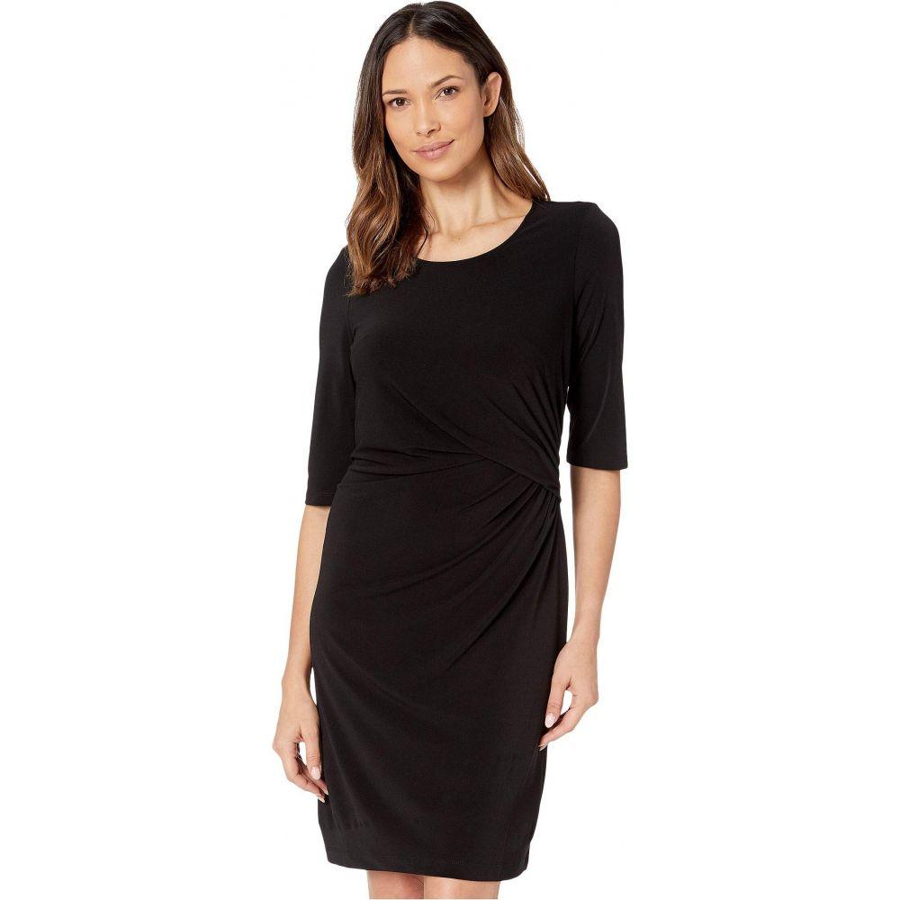 ニックゾー NIC+ZOE レディース ワンピース ワンピース・ドレス【Fundamental Drape Dress】Black Onyx