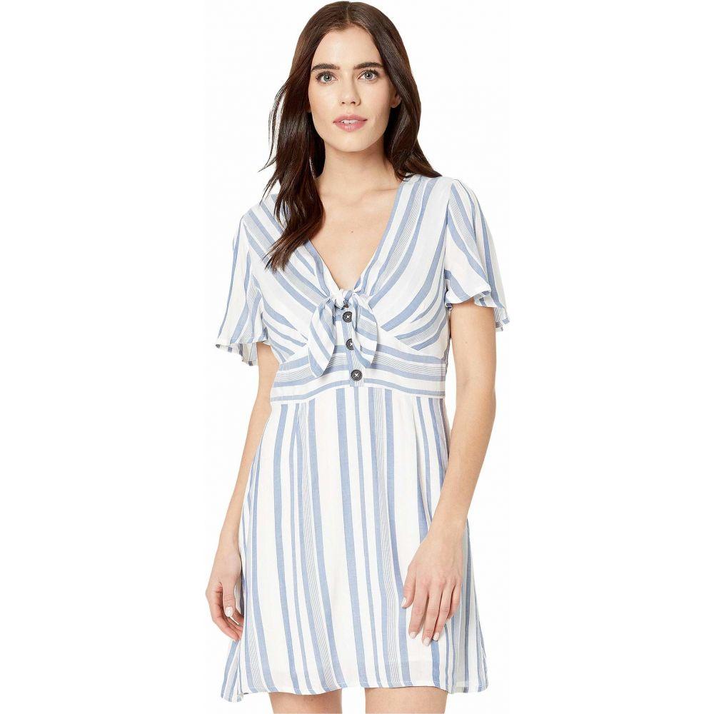 ロストアンドワンダー LOST + WANDER レディース ワンピース ミニ丈 ワンピース・ドレス【Laguna Fever Mini Dress】Blue/White