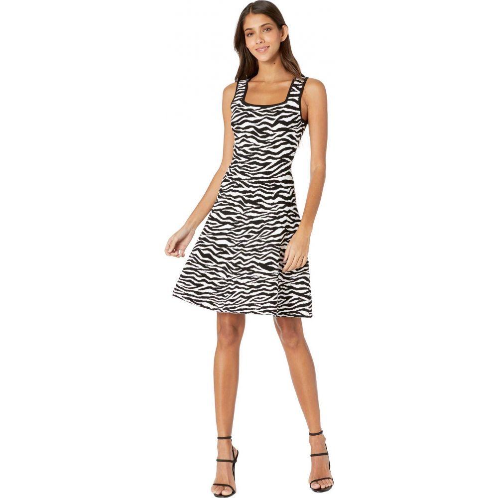 <title>ミリー レディース ワンピース ドレス ハイクオリティ Black White サイズ交換無料 Milly Abstract Zebra Fit-and-Flare Dress</title>