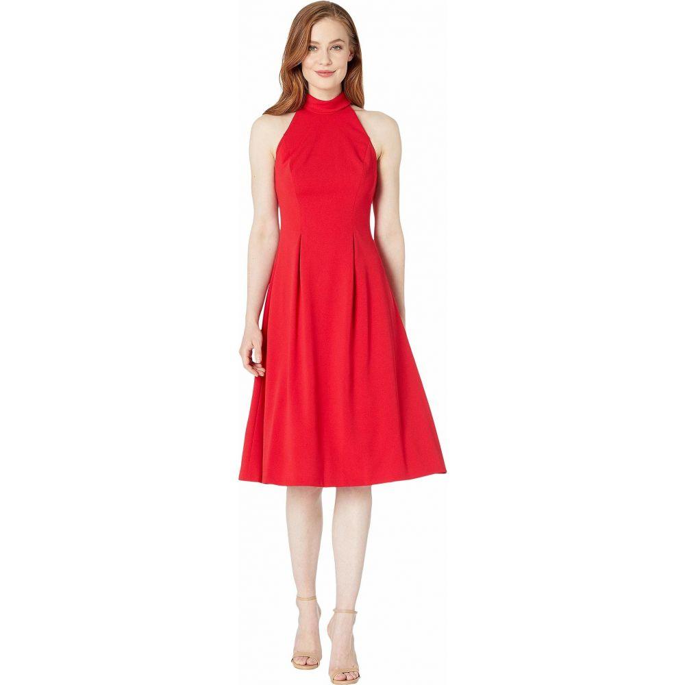 カルバンクライン Calvin Klein レディース ワンピース ミドル丈 ワンピース・ドレス【Mock Halter Neck Midi Dress】Red