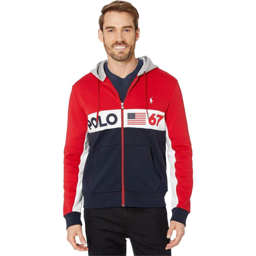 ラルフ ローレン Polo Ralph Lauren メンズ パーカー トップス【Color Block Americana Double Knit Tech Hoodie】RL 2000 Red Multi