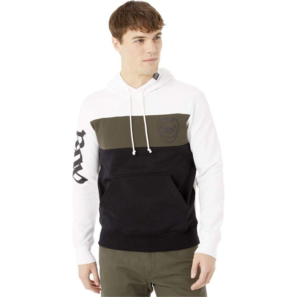 ジースター ロゥ G-Star メンズ パーカー トップス【Graphic 15 Hooded Sweatshirt Long Sleeve】White/Asfalt/Dark Black