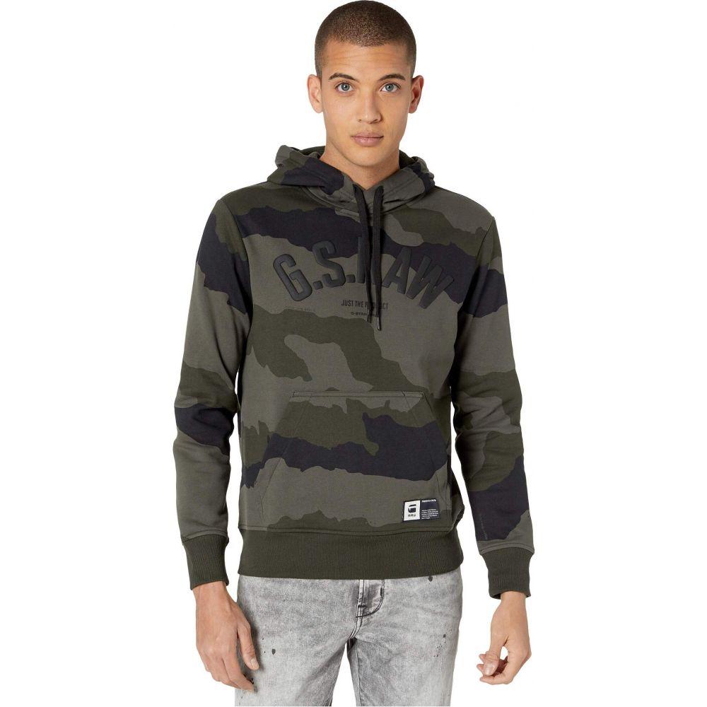 ジースター ロゥ G-Star メンズ パーカー トップス【Graphic 13 Core Hooded Sweatshirt Long Sleeve】Battle Grey/Asfalt