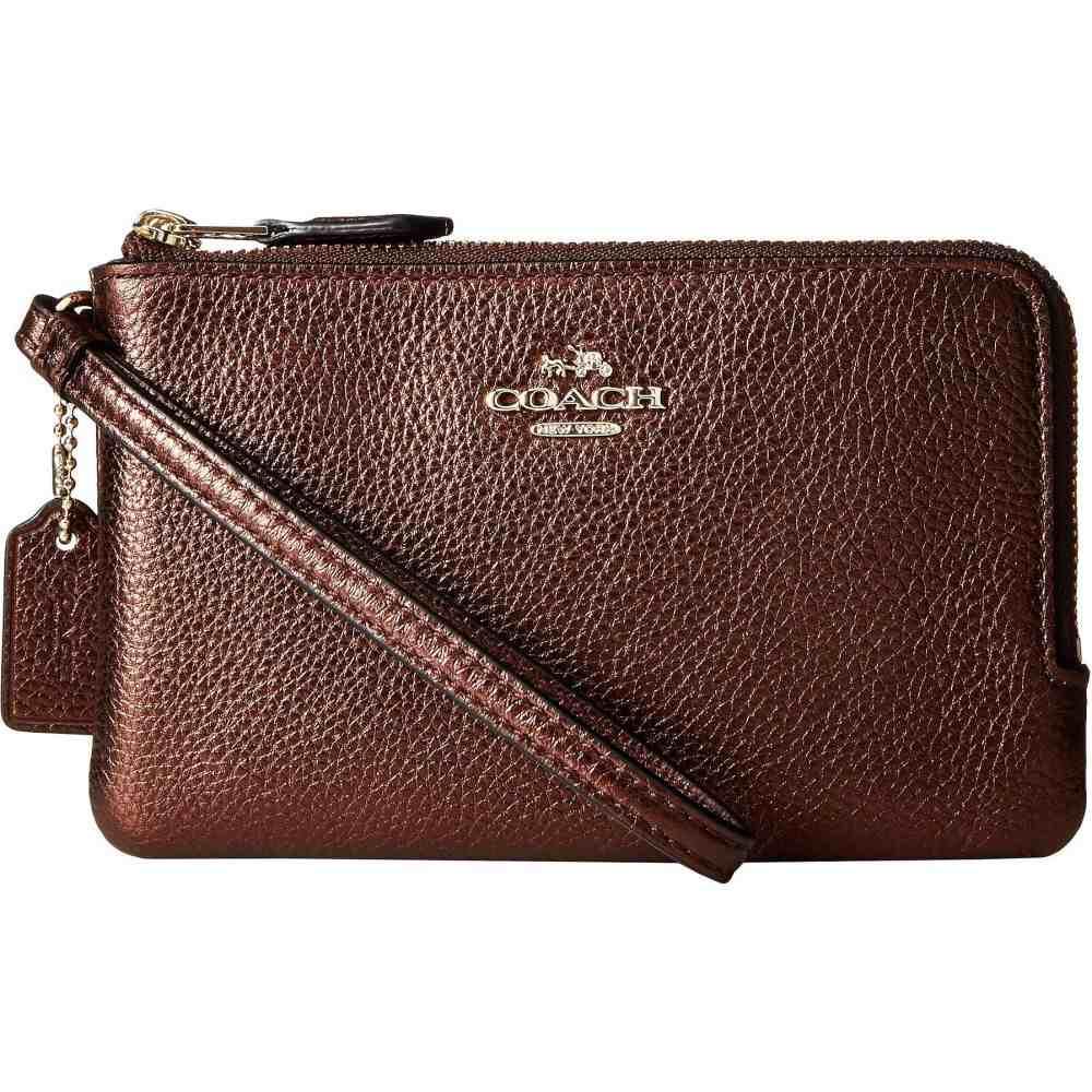 コーチ COACH レディース 財布 【Polished Pebbled Leather Double Corner Zip Bag】LI/Bronze