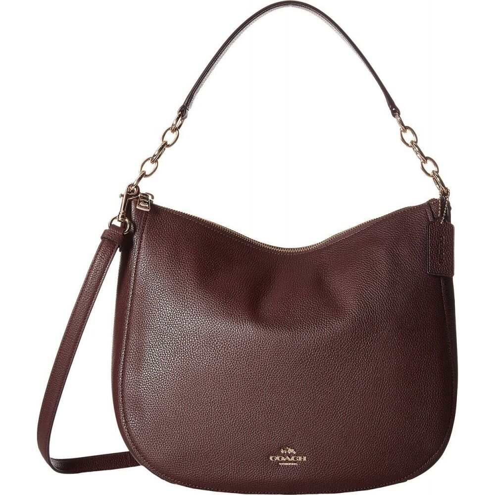 コーチ COACH レディース ショルダーバッグ バッグ【Polished Pebbled Leather Chelsea 32 Hobo】LI/Oxblood