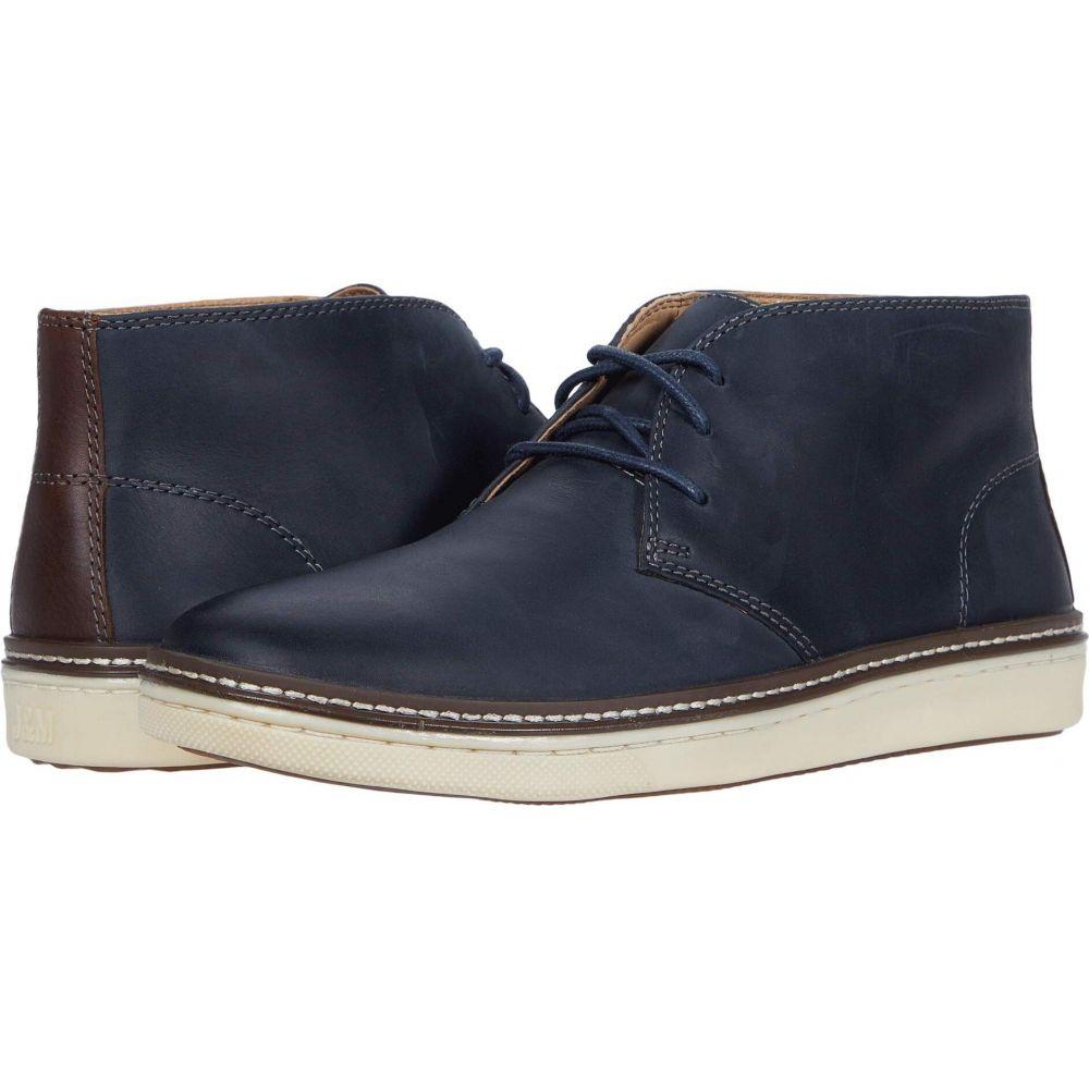 ジョンストン&マーフィー Johnston & Murphy メンズ ブーツ チャッカブーツ シューズ・靴【McGuffey Chukka】Navy Oiled Full Grain Leather