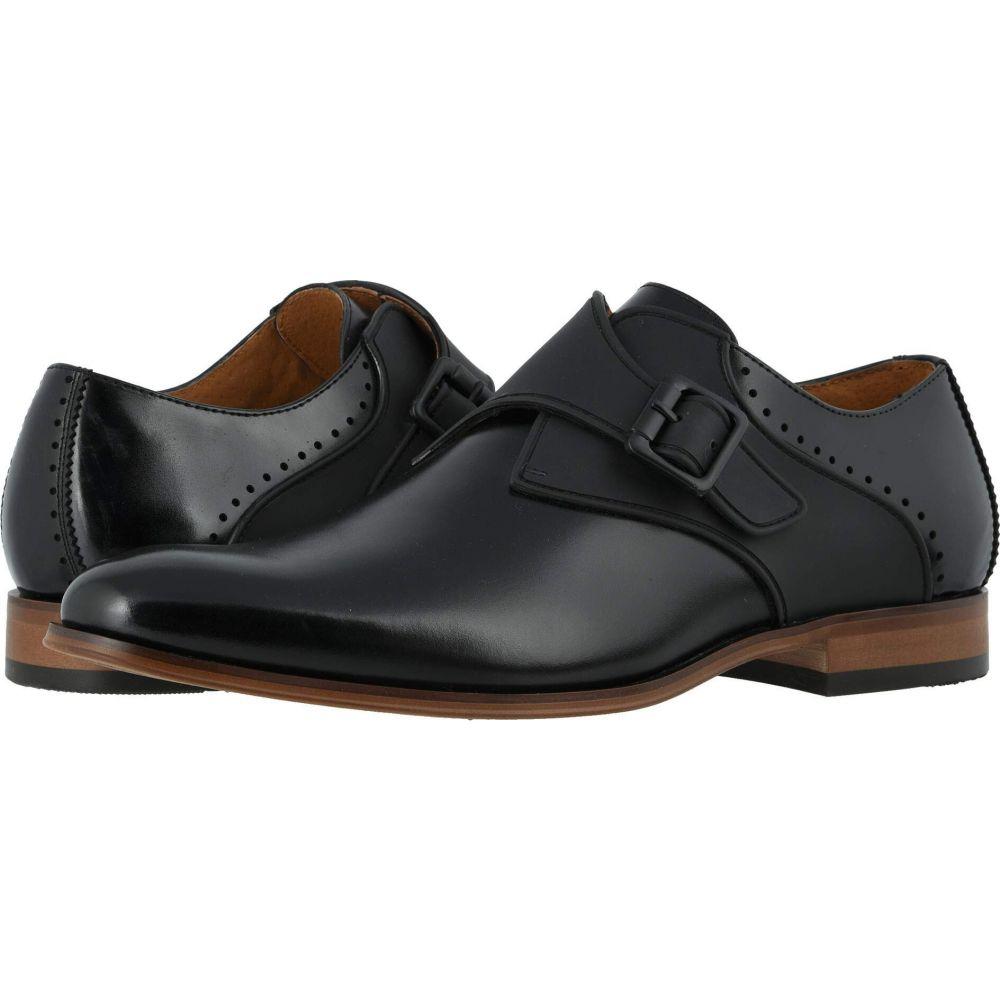 ステイシー アダムス Stacy Adams メンズ 革靴・ビジネスシューズ モンクストラップ シューズ・靴【Sutcliff Plain Toe Monk Strap】Black