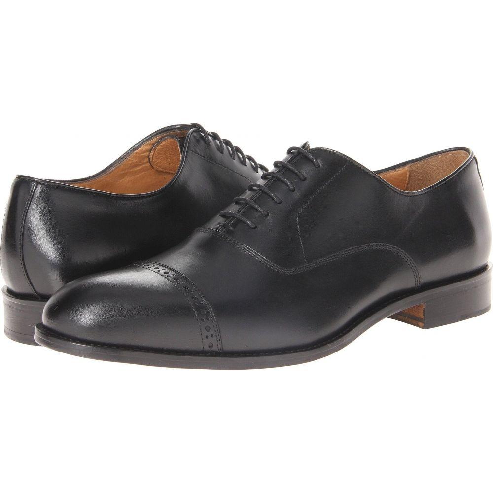 マッテオ マッシモ Massimo Matteo メンズ 革靴・ビジネスシューズ シューズ・靴【6-Eye Bal Cap Toe】Black