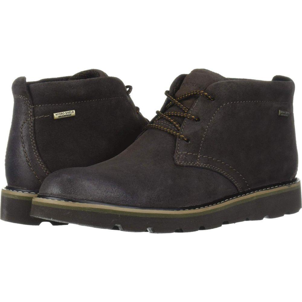 ロックポート Rockport メンズ ブーツ チャッカブーツ シューズ・靴【Storm Front Waterproof Chukka】Dark Brown Suede