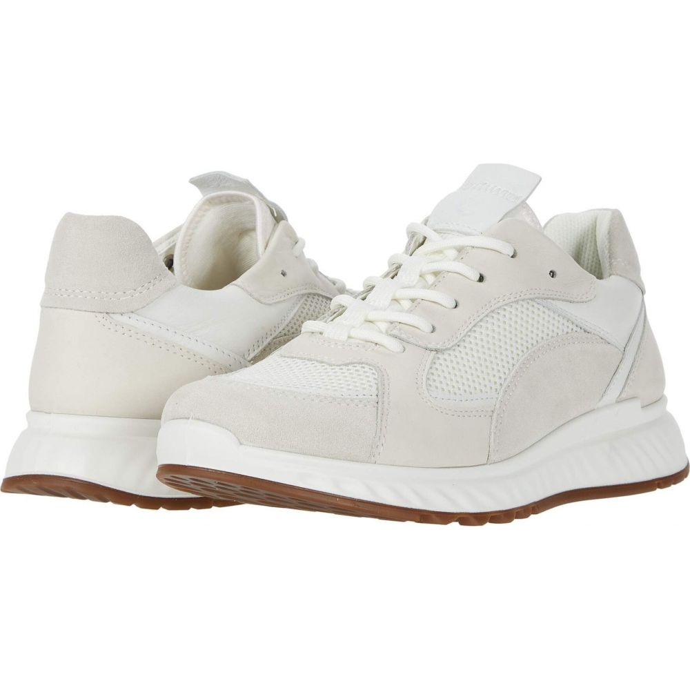 エコー ECCO レディース スニーカー シューズ・靴【ST.1 Trend Sneaker】Shadow White/White/Shadow White/White Calf Suede/Yak Leather/Yak