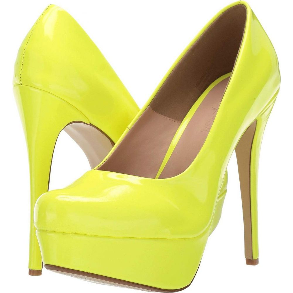バイスバーサ ViceVersa レディース ヒール シューズ・靴【Bianca】Neon Yellow Patent