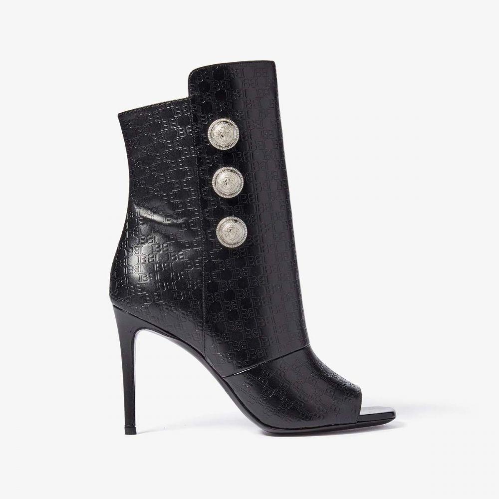 バルマン Balmain レディース ヒール シューズ・靴【Oslo All Over Monogram Boot】Black
