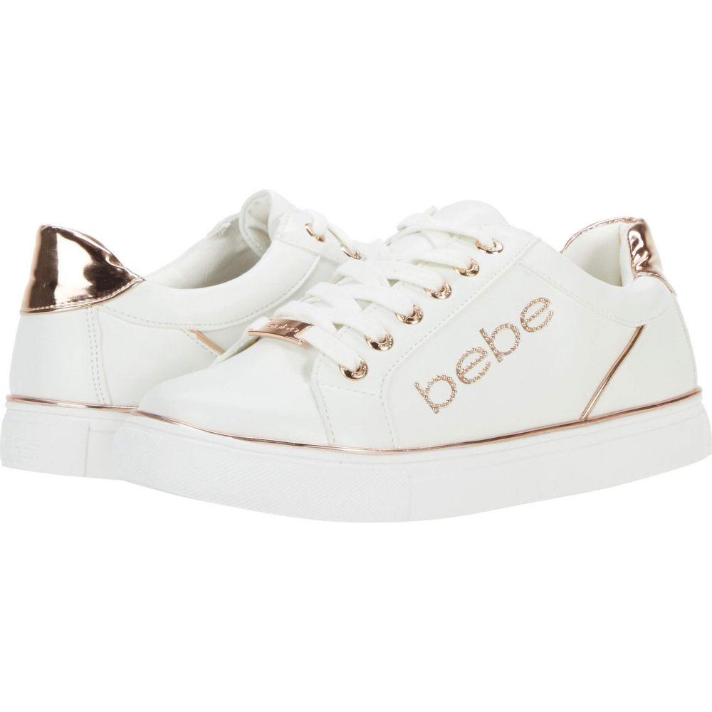 Gold Bebe レディース シューズ・靴【Celise】White/Rose ベベ スニーカー