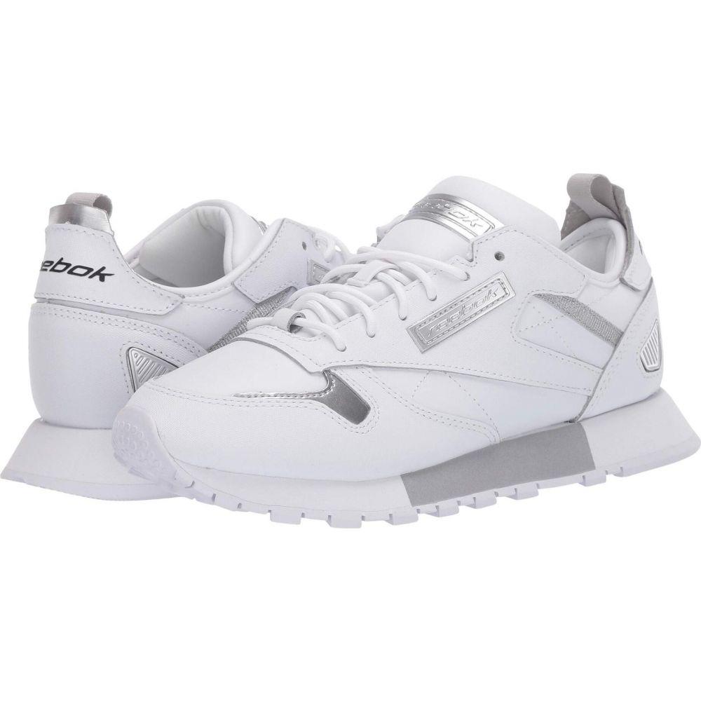 リーボック レディース シューズ 靴 スニーカー White 再販ご予約限定送料無料 Cold Grey 2 Leather Reebok Classic Metallic Ree:Dux 直営ストア サイズ交換無料 Lifestyle Silver