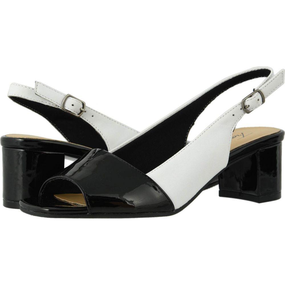 トロッターズ Trotters レディース サンダル・ミュール シューズ・靴【Monique】White/Black